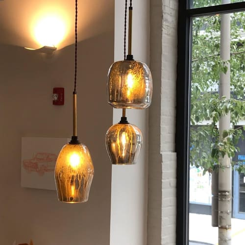 Pendants by CP Lighting seen at Poggenpohl Philadelphia Kitchen Design Studio, Philadelphia - LiquorLamp Pendants