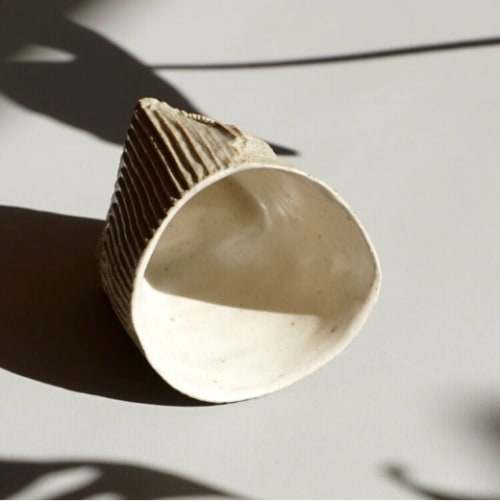Cups by Ray G Brown seen at Kentish Town Stores, London - Cardboard Ceramics Espresso Cup
