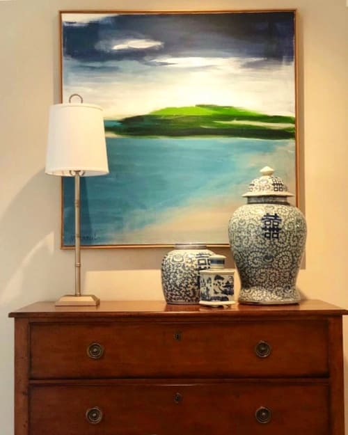 Paintings by Michele Stancil seen at Private Residence, McLean - Custom Commission