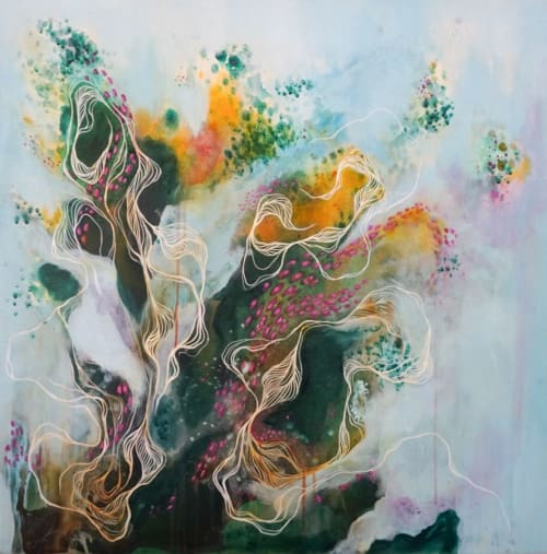 "Murals by Noelle Miller Art seen at Private Residence, Denver - ""She Was"""