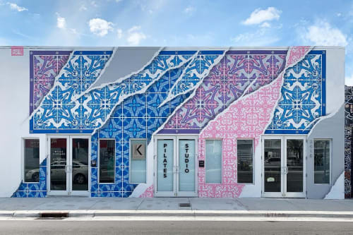 Street Murals by Add Fuel seen at Kenergy Pilates, Miami - Miami Vibe
