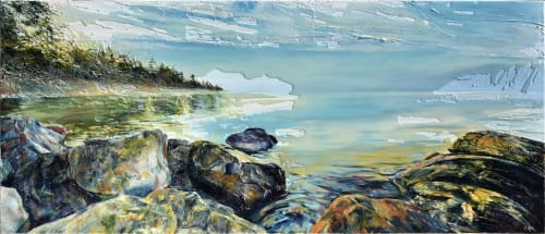 Paintings by Celina Melo seen at Private Residence, Toronto - Beyond the Rocks
