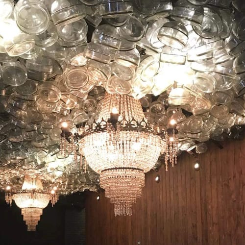 Chandeliers by Nellcote Studio seen at Iron Balls Gin Parlour, Khwaeng Khlong Tan Nuea - White Tea Chandelier
