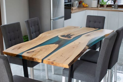 Tables by Eldest Ltd. seen at Private Residence, Leicester - GlassVirtuoso