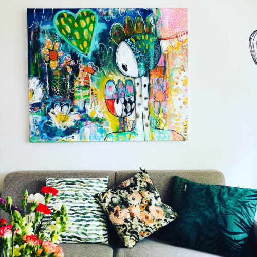 Paintings by Esther Ziher-Ginczinger (e-ster-art) seen at Private Residence, Brunssum - Stand in my light