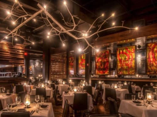 Chandeliers by CP Lighting at Kevin Rathbun Steak, Atlanta - newGROWTH Chandelier