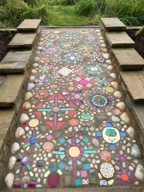 Tiles by Bethpurcellmosaics seen at Private Residence - Somerset Walkway