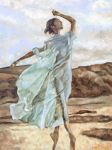 Paintings by Jessica Newman seen at Private Residence, Tiburon - Beach Dancer