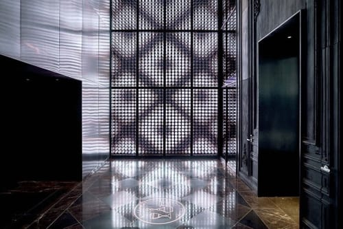 Lighting by Sosolimited seen at Baccarat Hotel & Residences New York, New York - Harcourt Wall