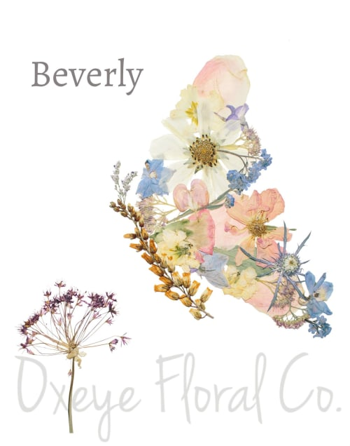 Paintings by Oxeye Floral Co seen at Private Residence, Calgary - Beverly Butterfly Print