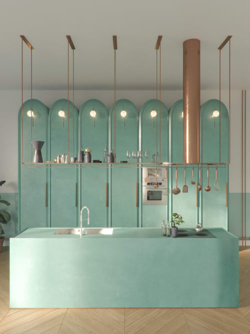 Interior Design by Utkan Gunerkan seen at Private Residence, Puerto Vallarta - Showcase Kitchen