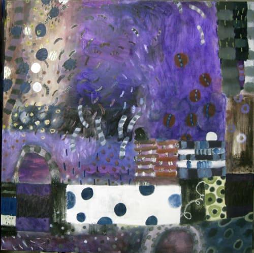 Paintings by Tati Kaupp seen at Private Residence, Washington - Winter Series #4