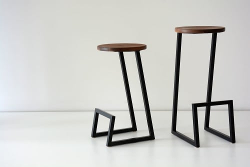 Chairs by hollis + morris seen at Private Residence, San Francisco - Corktown stools