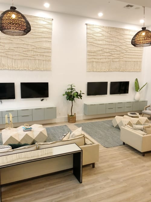 Wall Hangings by Yerbamala Designs seen at Solmar on Sixth Luxury Apartments, Fort Lauderdale - Large scale wall hanging (2)