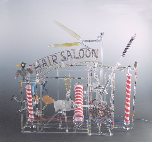 Sculptures by Bandhu Dunham seen at Osaka, Osaka - Hair Saloon