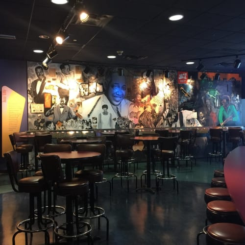 Murals by Michael Massenburg seen at American Jazz Museum, Kansas City - Jazz Era