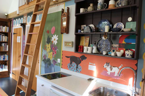 Murals by Louise Dean - Artist seen at Private Residence, Royal Tunbridge Wells - The Charleston Studio Wall