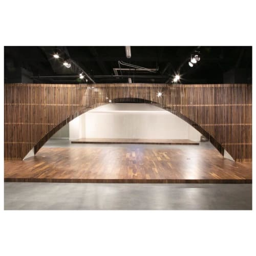 Wall Treatments by The Coast seen at Aireloom Showroom, Los Angeles - Slats / Screen Walls