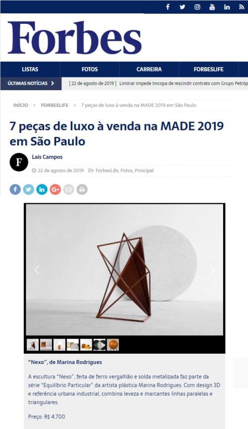 Sculptures by Marina Rodrigues seen at São Paulo, São Paulo - Sculpture Nexo
