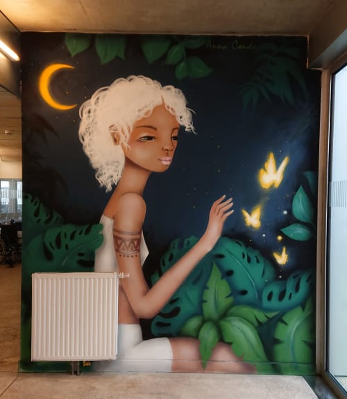 Murals by Anna Conda seen at Breadcrumbs, Paris - Sweet dreams