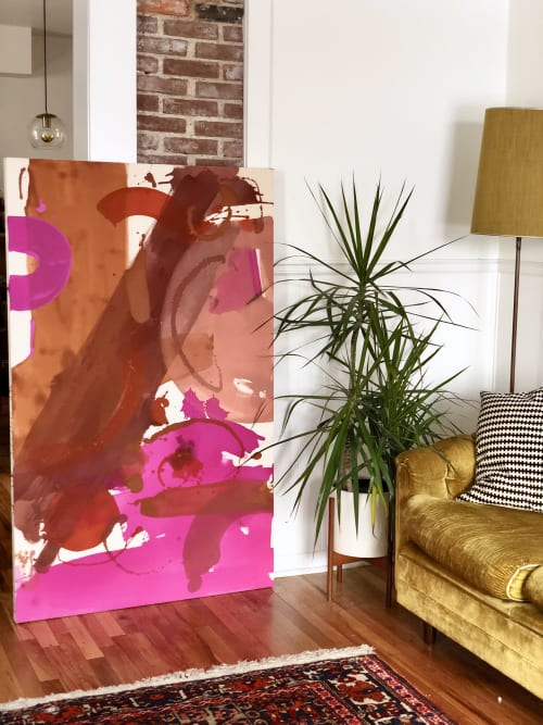 Paintings by Christine Cover seen at Private Residence, San Jose - Untitled in Warm Colors