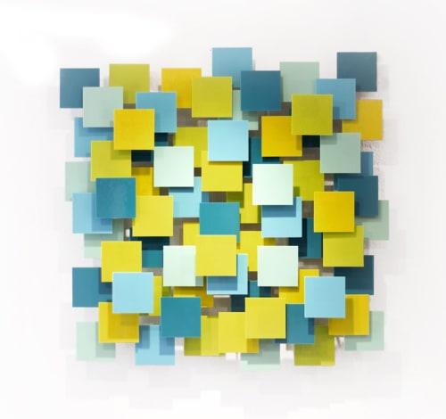 """Playtime"" Glass and Metal Wall Art Sculpture   Sculptures by Karo Studios"