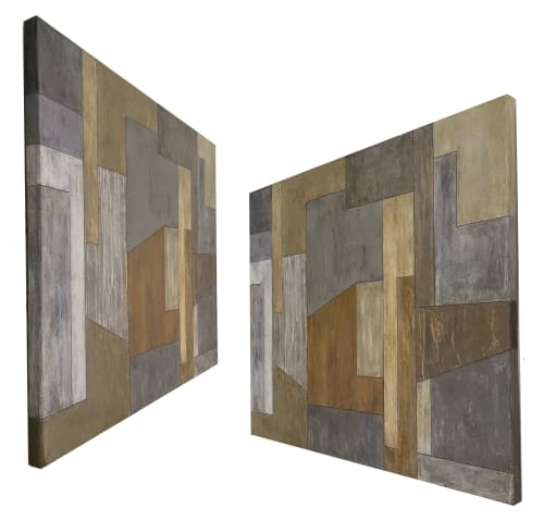 Paintings by stephen cimini seen at Private Residence, New York - Muddy Waters — Geometric Abstract Painting