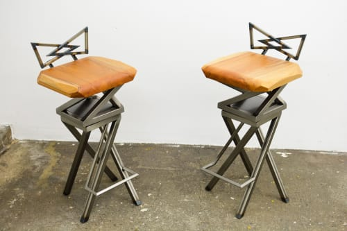 Chairs by Carleton Fine Work seen at Private Residence, Paris - no. 26 (DNA bar stools)
