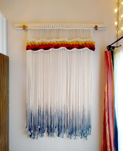 Macrame Wall Hanging by Q Wollock seen at Private Residence, Eugene - Merredith, Custom Macrame Wall Hanging