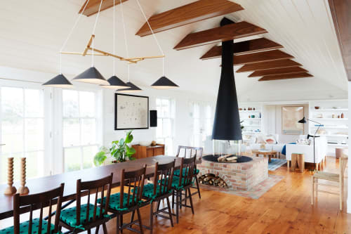 Chandeliers by Daniel Becker Studio seen at Martha's Vineyard - Emily Group of Five Chandelier