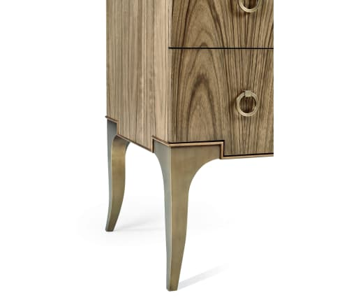 Furniture by Jonathan Charles Fine Furniture seen at Private Residence - Hamilton Golden Amber & Brass Dresser with Seven Drawers