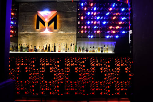 Sculptures by Anoma at M Bar And Kitchen, Kolkata - Graphite Grey Granite Installation