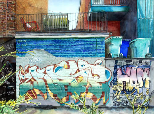 Paintings by Helen K Beacham seen at Summerville, Summerville - Trash Talk