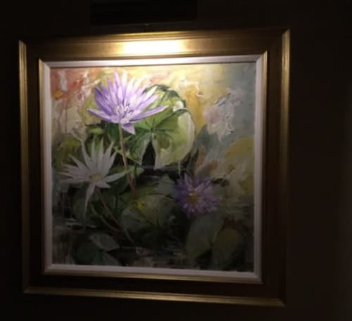 Paintings by Gilly Gobinet Art seen at Private Residence, Boston - Waterlilies