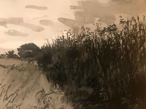 Paintings by June Yokell seen at Artist Studio - June Yokell, San Francisco - A morning on Greenbrae Marsh