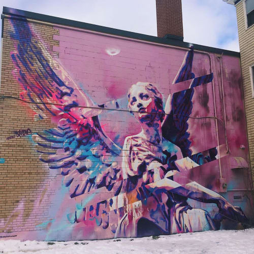Street Murals by Princefuze seen at Downtown Halifax, Halifax - Victoria Mural