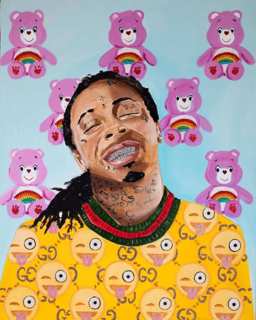 Paintings by Ashley Longshore seen at Ashley Longshore Studio Gallery, New Orleans - Lil Wayne