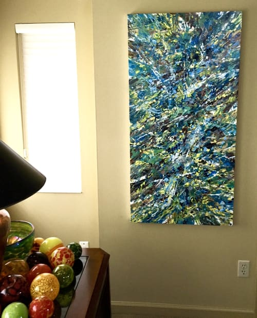 Paintings by Erin Cooke at Private Residence, Seattle - Splatter Abstraction XIII