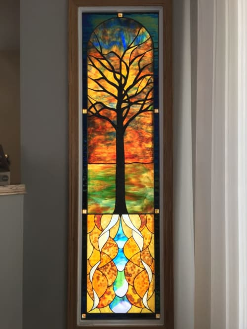 Art & Wall Decor by Glass Act Studio seen at Private Residence, Calgary - Tree of Life