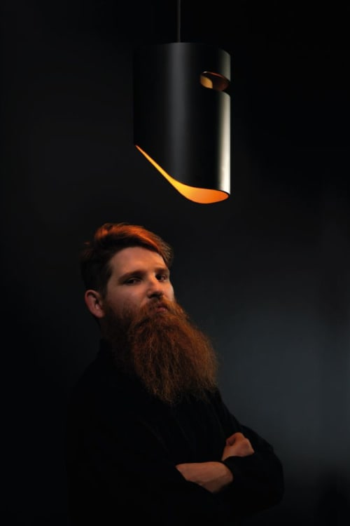 Pendants by Troy Backhouse seen at t bac design, Fitzroy - Ned Kelly Pendant lights