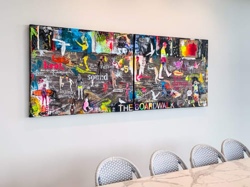 Paintings by Linda Zacks seen at Private Residence, Asbury Park - The Boardwalk