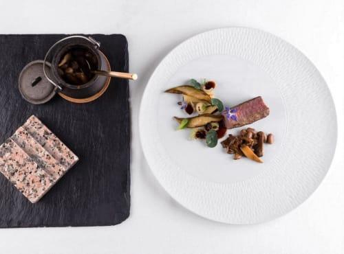 Ceramic Plates by Mieke Cuppen seen at G Pousada Restaurante, Bragança - Texture plate Chuvinha