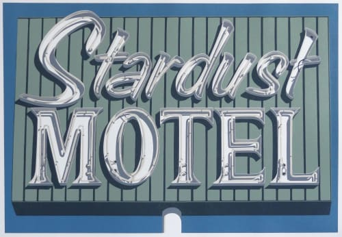 """Art & Wall Decor by Dave Lefner seen at The Brewery Artist Lofts, Los Angeles - """"Stardust Motel"""""""
