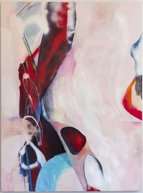 Paintings by Katherine Boxall at San Francisco Art Institute (SFAI), Fort Mason Campus, San Francisco - Burnt Bubble Gum