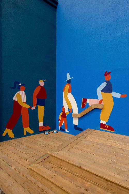 Murals by Cecile Gariepy seen at Sidewalk Labs / 307, Toronto - Sidewalk Labs