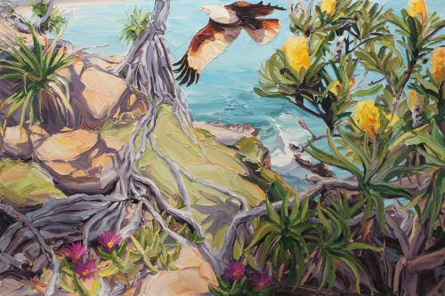 Paintings by Steve Tyerman seen at 392 Sydney Rd, Brunswick - Landscape seascape painting