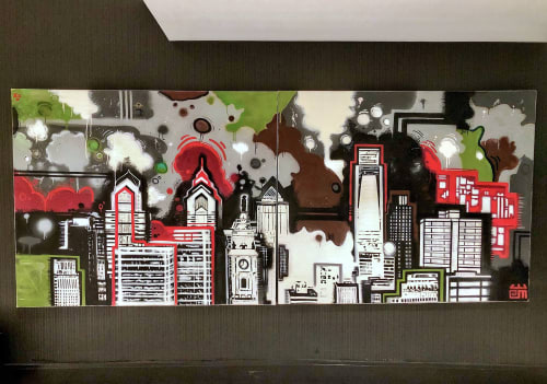 Murals by Alloyius Mcilwaine Art seen at Sonesta Philadelphia Downtown Rittenhouse Square, Philadelphia - Sonesta Hotel Painting