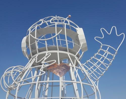 Public Sculptures by Andrea Greenlees seen at Northern Liberties, Philadelphia - Bebot