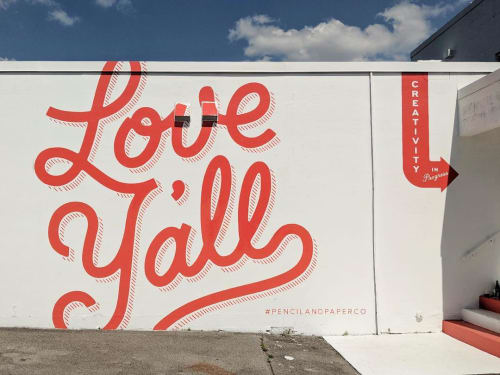 Murals by I Saw The Sign seen at Pencil & Paper Creative Development Co., Nashville - Love Y'All