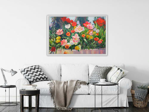 Paintings by Vera Kisseleva seen at Private Residence, Fergus - Original Floral Acrylic painting on canvas